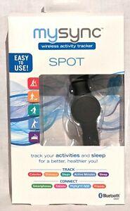 MySync Wireless Activity Tracker Band SPOT w/ Bluetooth Distance Minutes Sleep