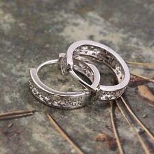 Children Hoop Earrings Fashion White GF Womens Hollow earrings free shipping