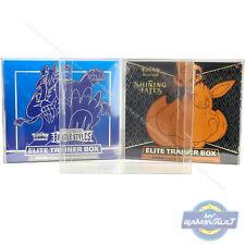 More details for pokemon trainer box protector elite super strong 0.5mm pet plastic display case