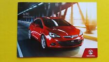 Vauxhall Astra GTC SRi Limited Edition brochure catalogue October 2017 MINT Opel