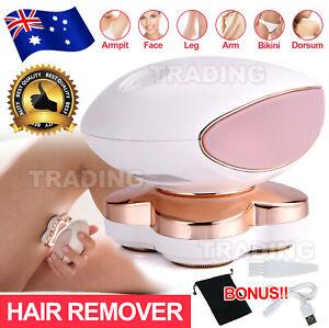 4 Head Women's Hair Remover Electric Epilator Body Facial Arm Legs Bikini Shaver