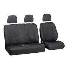 Negro pequeño patrón de cuadros para fundas para asientos citroen jumpy asiento del coche referencia set 1+2
