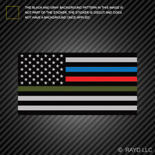 Thin Blue Line Police Firefighter Military Flag Sticker Self Adhesive american
