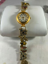 Vintage Jennie B Gold Tone Watch by Avon w/ Insect Adornments(Bee, Lady Bug etc