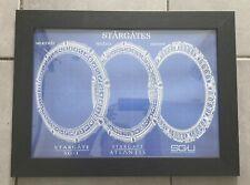 More details for stargate a3 schematic blueprint poster in brand new wooden frame sg1, atlantis
