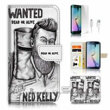 Samsung Galaxy ( S7 Edge ) Flip Wallet Case Cover P0394 Ned Kelly Wanted