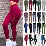 Women High Waist Sport Pants Yoga Leggings Fitness Gym Active Running Trousers V