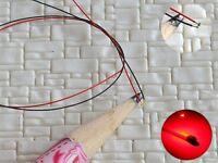 S1154 - 10 Stück SMD LED 0402 rot mit Kabel Microlitze micro LEDs