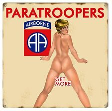Paratroopers Airborne Pin Up Girl Sign