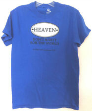 """""""HEAVEN"""" """"DON'T MISS IT FOR THE WORLD""""  Youth Conference Blue Cotton Tee Shirt"""