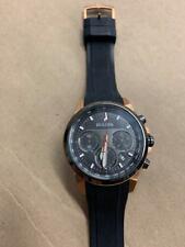 Bulova 98B311 Men's Rose Gold Stainless Steel Chronograph Wrist Watch
