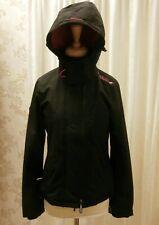 Superdry XS (UK 8) Black Waterproof Windcheater Jacket with Hood - Autumn Wear