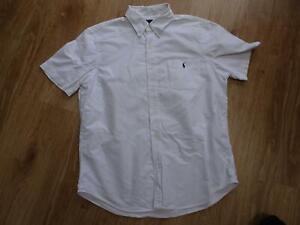 RALPH LAUREN mens white short sleeve shirt LARGE AUTHENTIC