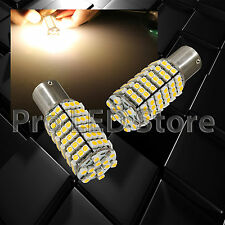 2X 430 Lumens 1156 120smd LED Warm White Reverse Back Up Lights Bulbs