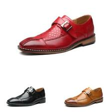 Fashio Mens Dress Formal Leather Shoes Pointy Toe Wedding Buckle Low Top Oxfords