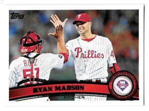 ⚾️ 2011 ~ Topps #638 ~ Ryan Madson ~ Phillies ~ Mint=9