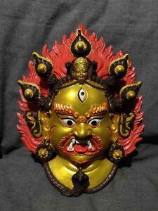 Tibetan Handmade Resin Statue Bhairab Buddha Resin Statue Resin Bhairava Mask