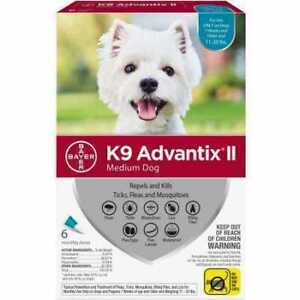 K9 Advantix II for Medium Dogs (11-20 Pounds / 12-pack) - New in Box
