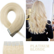 Female Tape In Glue 100% Remy Human Hair Extensions Seamless Blonde brown long 9