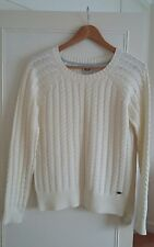 Animal ladies cream cable knit jumper, NWOT