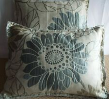PAIR OF 15 X 20 INCH BOSTER CUSHIONS FOR £8.99 GREY AND BEIGE