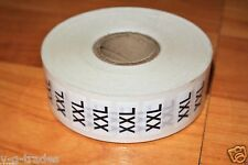 New Lot Roll Of 500 Size Xxl Xx-Large Strips Retail Clothing Size Sticker Labels