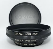 [Near Mint] CONTAX METAL HOOD 1 & 67/86 Ring & 67mm P-Filter & K-94 Cap Japan