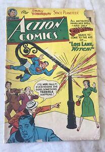 ACTION COMICS #172-SUPERMAN-TOMMY TOMORROW-AL PLASTINO-GOLDEN AGE FR/GD 1.5