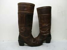Frye Brown Leather Knee High Boots Womens Size 8.5 B Style 77219