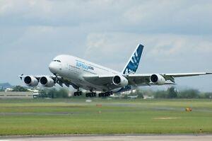 AIRBUS A380 AIRCRAFT POSTER POSTER 24x36 HI RES 9MIL PAPER