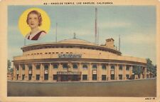 WWII POSTCARD AIMEE SEMPLE McPHERSON ANGELUS TEMPLE * Quarantine LOS ANGELES CA