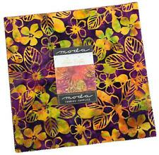 "Moda, Aloha Batiks, Layer Cake, 10"" Fabric Quilting Squares, 4356LC, B20"