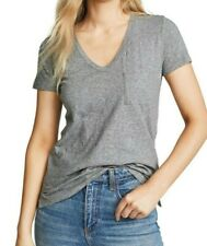 Madewell Whisper Cotton V-Neck Pocket Tee Gray T-Shirt Top - Size XX-Small