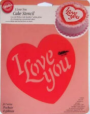 I love you Valentin's Day Cake Stencil 1224 - NEW