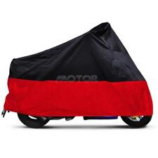 Motorcycle Sun Dust Large Cover Street Sport Bikes Outdoor Indoor Black & Red