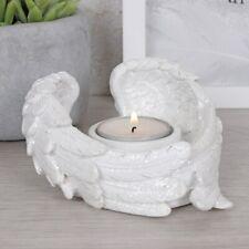 Glitter White Angel Wings Tea Light Candle Holder Ornament