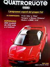 Quattroruote 427 1991 Top Car: NSX la Ferrari Honda. Confronto Y10, Clio [Q83]