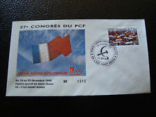 FRANCE - enveloppe 21/12/1990 27e congres du PCF (cy7) french (K)
