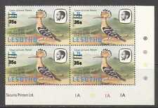 Lesotho abubilla/Pájaro/35s en 75s/1981 Pie de imprenta C/b n22438