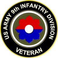 "Army 9th Infantry Division Veteran 5.5"" Sticker 'Officially Licensed'"
