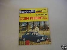 - L'AUTOMOBILE 225 FIAT 1500/CITROEN DS PALLAS/GIULIA