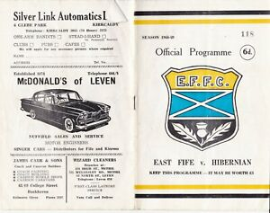 East Fife v Hibernian 11 Sep 1968