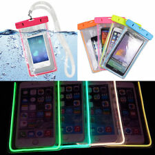 LUMINOSO FUNDA CARCASA UNIVERSAL IMPERMEABLE PARA MOVIL SUMERGIBLE BOLSA ESTANCA