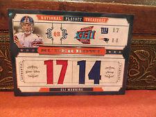 National Treasures Super Bowl XLII Jersey Giants Eli Manning  17/25  2008