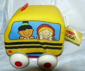 Melissa & Doug K's Kids Soft Pull-Back Bus Baby Toy Plush 4""