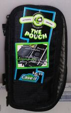 CASE-IT THE POUCH ZIPPERED PENCIL CASE WITH GROMMETS ABOUT 4IN X 8IN BLACK G-10