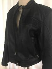 Harley Davidson Black leather jacket womans size M perforated leather. Pristine!