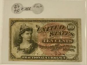 FRACTIONAL CURRENCY 10c  F-1258  GREEN BACK ON SALE!