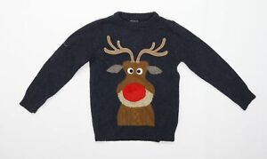 NEXT Boys Blue   Pullover Jumper Size 7 Years  - Christmas
