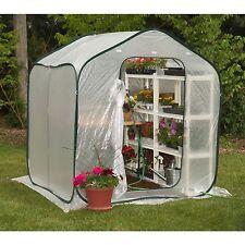 Spring Gardener Flower-House Lightweight Greenhouse 6' x 6' Walk-In Easy to Move